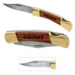 17798 - Small Rosewood Pocket Knife -Gold