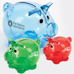 17857 - Transparent Piggy Bank