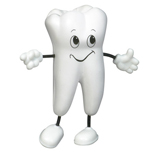 Personalized Squeezable Tooth Figure Stress Reliever