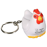 17932 - Chicken Key Chain Stress Reliever