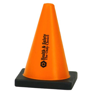 custom logoed construction cone stress reliever