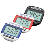Promotional Widescreen Walker Pedometer, Large LCD Pedometer