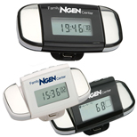 Promotional Calibration Pulse Reader Pedometer with clock