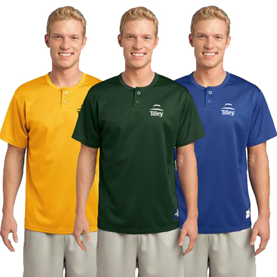 sport-tek - posicharge tough mesh henley