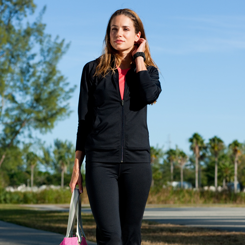 sport-tek ladies fitness jacket
