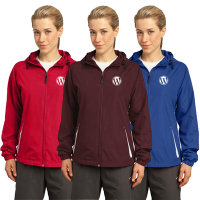 Sport-Tek - Ladies Colorblock Hooded Jacket
