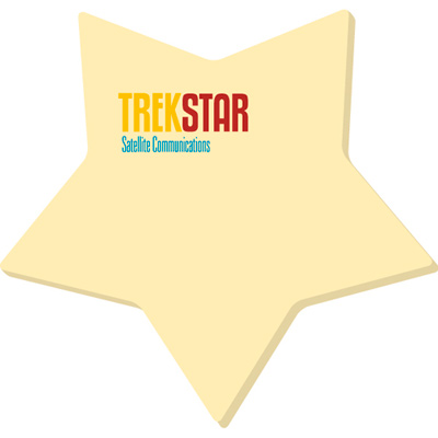Bic® Adhesive Die Cut Notepads (Star)