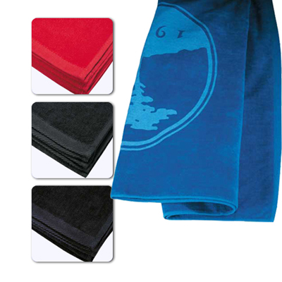 colored beach towel - large