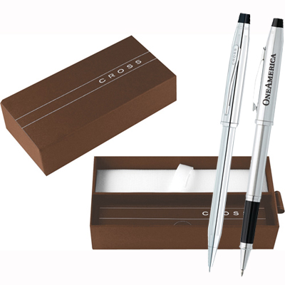 Cross Century II Lustrous Chrome Pen Set