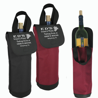 The Vineyard Single Bottle Wine Tote