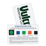 Imprinted Stressometer Card - Custom Stress-O-Meter Cards