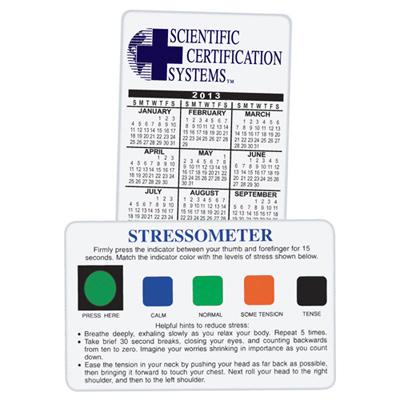 Stress-O-Meter Calendar Card