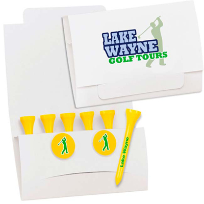 6-2 golf tee packet- 2-3/4 tees
