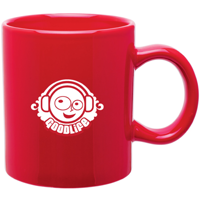 20 oz Red C-Handle Mug