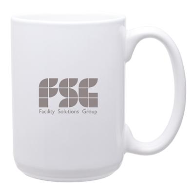 15 oz White Grande Mug