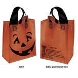 18549 - Orange Halloween Pumpkin Shopper