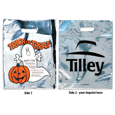 Silver Reflective Halloween Ghost Bag