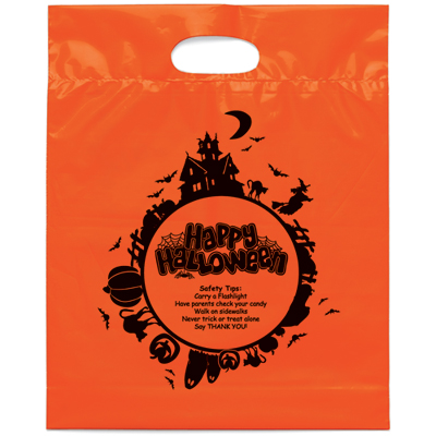 promotional die cut Halloween bags