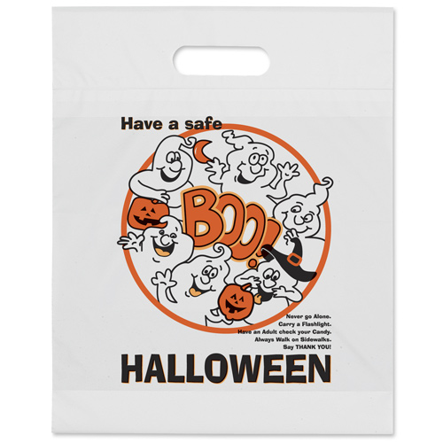 boo ghost die cut halloween bag