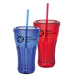 Logo Plastic Tumblers with Lid and Straw - Wholesale Plastic Tumblers