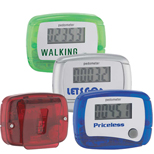 In Shape Pedometers with Logo - Custom Printed In Shape Pedometers