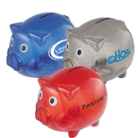 Promotional Desktop Bank - Custom Plastic Piggy Bank