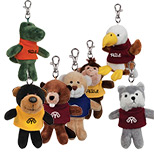 Promotional Stuffed Animals Key Tags - Stuffed Animals Key Tags with Logo