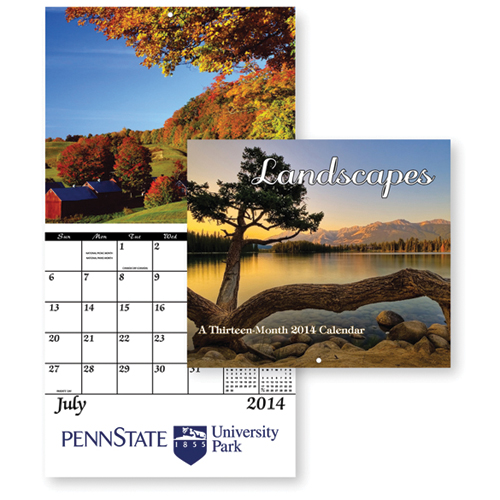 13-Month Landscapes Wall Calendar