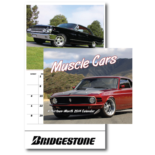 13-Month Muscle Cars Wall Calendar