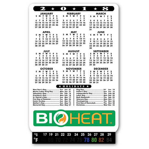 Magnetic Calendar with Thermometer
