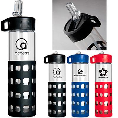 20 oz. sip-n-go glass water bottle