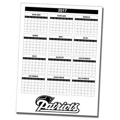 12 Month Wall Calendar Single Sheet