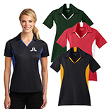 18955 - Sport-Tek® Ladies Side Blocked Micropique Sport-Wick® Polo