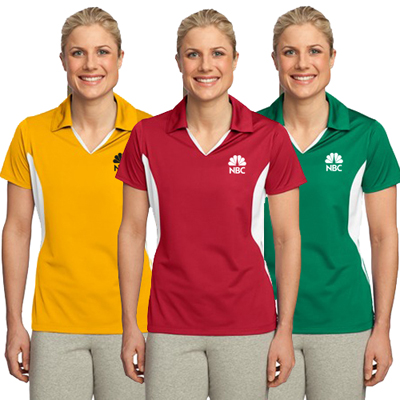 sport-tek® ladies side blocked micropique sport-wick® polo