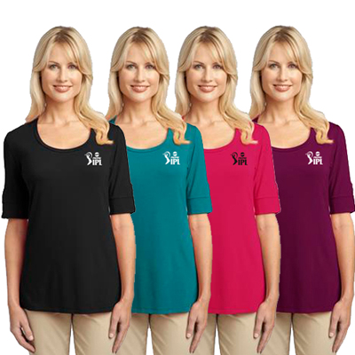 port authority scoop neck shirt