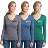 18967 - District Made Long Sleeve V-Neck Top