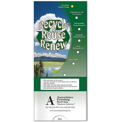 Pocket Slider - Recycle, Reuse, Renew