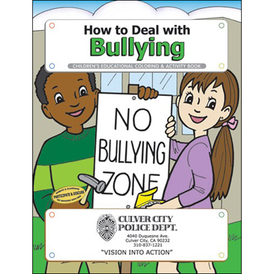 deal with bullying coloring book
