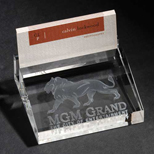 19115 - 3D Crystal Business Card Holder