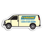 Custom Van Shaped Magnets - Promotional Vehicle Shaped Magnets