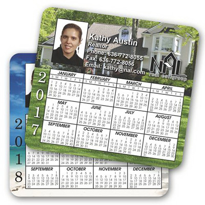 Double Sided Calendar Magnet