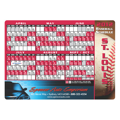 giveaway schedule magnets for baseball