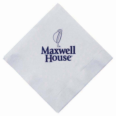 3-ply white beverage napkin
