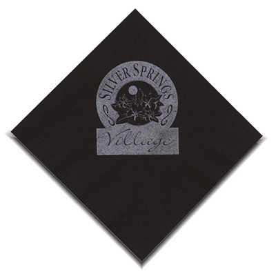 black beverage napkin