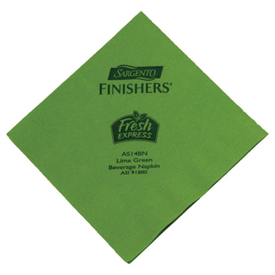 Fresh Lime Beverage Napkin