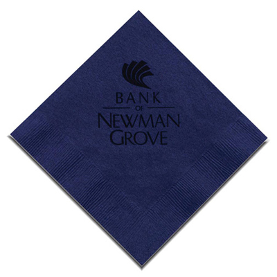 Navy Beverage Napkin