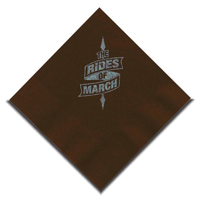 Chocolate Brown Beverage Napkin