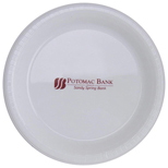 Printed Plastic Plates - White Plastic Plate With Logo