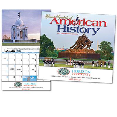 Great Symbols of American History  Wall Calendar