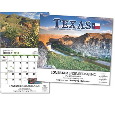 Texas Wall Calendar
